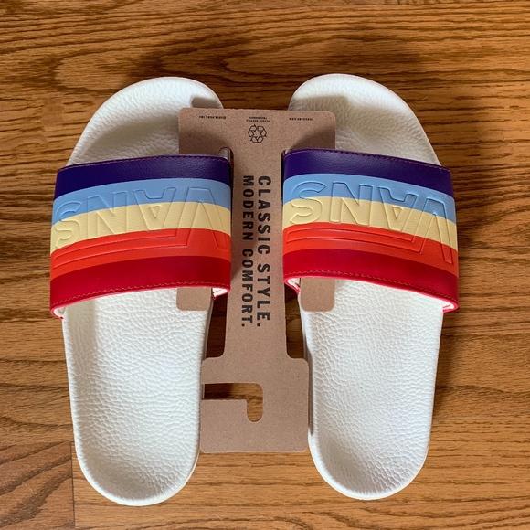 Vans Shoes | Vans Rainbow Slide | Poshmark